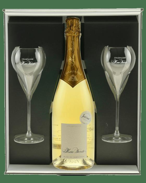 Champagne cadeau met glazen - Jerome Champagne