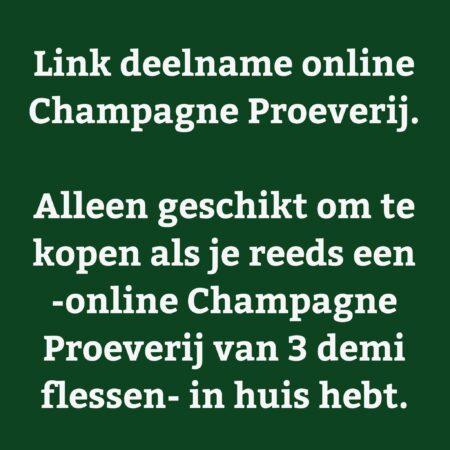 Ticket - inloglink online Champagne Proeverij - jeromeschampagne.nl